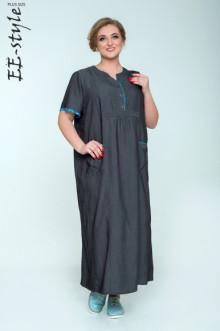 """Платье """"Её-стиль"""" 2029 ЕЁ-стиль (Чёрный джинс)"""